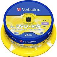 Verbatim DVD+RW 4x, 25 db/henger - Média