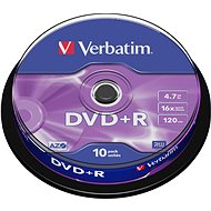 DVD+R Verbatim 4,7 GB 16x speed, 10 db cakebox csomag