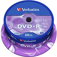 Verbatim DVD + R 16x, 25db cakebox - Média