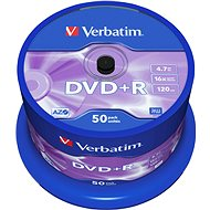 Verbatim DVD + R 16x, 50ks cakebox - Média