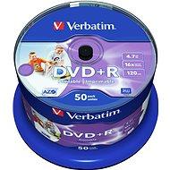 Verbatim DVD + R 16x nyomtatható 50ks cakebox - Adathordozó