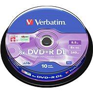 Verbatim DVD + R 8x kétrétegű 10p DVD/CD tartó - Média