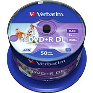 Verbatim DVD + R 8x, Dual Layer Printable, 50 db CakeBox - Média