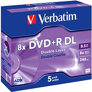 Verbatim DVD+R 8x, Dual Layer 5db egy dobozban - Média