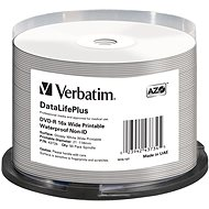 VERBATIM DVD-R 4.7GB 16x WIDE GLOSSY WATERPROOF PRINT. No ID spindl 50db - Média