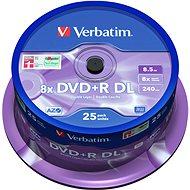 VERBATIM DVD+R 8,5GB 8x DoubleLayer MATT SILVER spindl 25db/CS