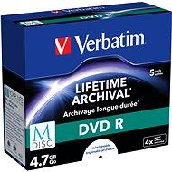 VERBATIM M-DISC DVD R 4X 4.7GB Inkjet Printable 5db - Média