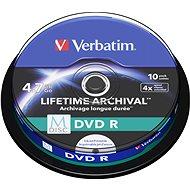 VERBATIM M-DISC DVD R 4X 4.7GB Inkjet Printable 10 db/BAL