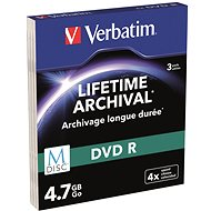 VERBATIM M-DISC DVD-R 4X 4,7GB MATT SILVER SLIM 3pck/BAL - Média
