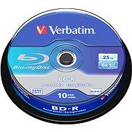 VERBATIM BD-R SL 25GB, 6x, spindle 10 db - Média
