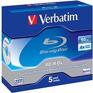 Verbatim BD-R 50GB Dual Layer 6x, 5 db - tokokban - Média