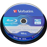 Verbatim BD-R 50GB Dual Layer 6x - 10db-os cakebox - Média