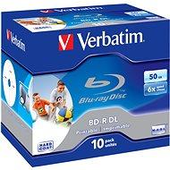 Verbatim BD-R Dual Layer nyomtatható 50 gigabyte 6x, 10 db egy dobozban - BD-R