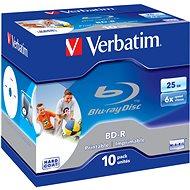 VERBATIM BD-R SL 25GB, 6x, printable, jewel case 10 db - Média