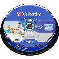 Verbatim BD-R SL 25GB Printable, 10db cakebox - Média