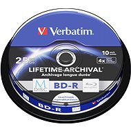 VERBATIM M-DISC BD-R SL 25GB 4x INKJET PRINTABLE spindle 10db/cs - Média