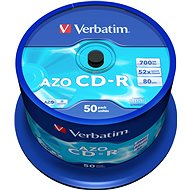 VERBATIM CD-R 80 52x CRYST. spindl 50db - Média