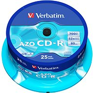 VERBATIM CD-R 80 52x CRYST. spindl 25db/csomag