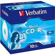 VERBATIM CD-R 80 MUSIC box 10 db/csomag - Média