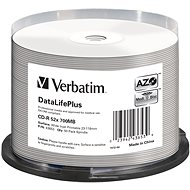 VERBATIM CD-R 80 52x PRINT. Wide Silver Inkjet spindl 50 db/csomag