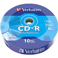 VERBATIM CD-R 80 52x WRAP EXTRA PROTECTION 10db/csomag - Média