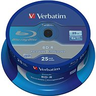 VERBATIM BD-R SL DataLife 25GB, 6x, spindle 25 db - Média