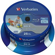 VERBATIM BD-R SL DataLife 25GB, 6x, printable, spindle 25 db - Média