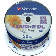 VERBATIM DVD+R DL 8.5GB, 8x, printable, spindle 50 db - Média