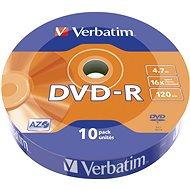 VERBATIM DVD-R AZO 4,7GB, 16x, wrap 10 db - Média