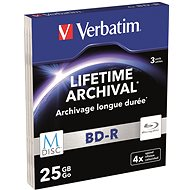 VERBATIM M-DISC BD-R SL 25GB, 4x vékony tok 3 db - Média