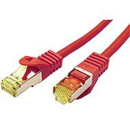 OEM S/FTP patch kábel Cat 7, RJ45 csatlakozókkal, LSOH, 25m, piros