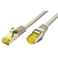OEM S/FTP Cat 7 patch kábel, RJ45 csatlakozóval, LSOH, 25m, szürke