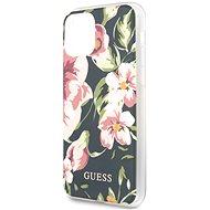 Guess Flower Shiny N.3 iPhone 11 készülékhez Navy