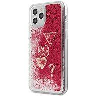 Guess Liquid Glitter Charms - Apple iPhone 12/12 Pro, Raspberry - Mobiltelefon hátlap
