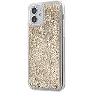 Guess 4G Liquid Glitter - Apple iPhone 12 Mini, Gold - Mobiltelefon hátlap