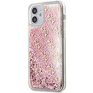 Guess 4G Liquid Glitter - Apple iPhone 12 Mini, Pink - Mobiltelefon hátlap