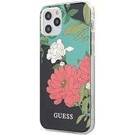Guess PC/TPU Flower N.1 - Apple iPhone 12/12 Pro, Black - Mobiltelefon hátlap