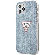 Guess PC/TPU Denim - Apple iPhone 12/12 Pro, Light Blue - Mobiltelefon hátlap