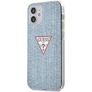 Guess PC/TPU Denim - Apple iPhone 12 Mini Light Blue - Mobiltelefon hátlap