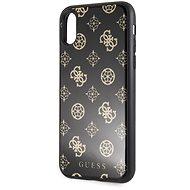 Guess Layer Glitter Peony tok iPhone X/XS készülékhez, fekete - Mobiltelefon hátlap