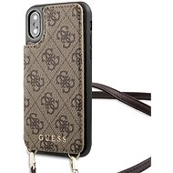 Guess 4G Crossbody Cardslot tok iPhone X/XS készülékhez - barna - Mobiltelefon tok