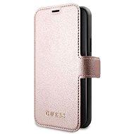 Guess Iridescent Apple iPhone 12/12 Pro készülékekhez Pink - Mobiltelefon tok