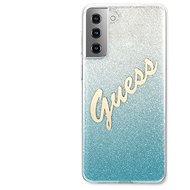 Guess TPU Vintage hátlap a Samsung Galaxy S21  készülékhez, színátmenetes világoskék - Mobiltelefon hátlap