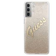 Guess TPU Vintage hátlap a Samsung Galaxy S21+ készülékhez, színátmenetes arany
