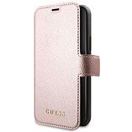Guess Iridescent Book tok iPhone 11 készülékhez, fekete/rózsaszín (EU Blister) - Mobiltelefon tok