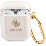 Guess 4G TPU csillogó tok Apple Airpods 1/2 arany készülékhez - Fülhallgató tok