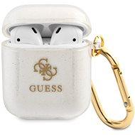Guess 4G TPU Glitter tok Apple Airpods 1/2 készülékhez átlátszó - Fülhallgató tok