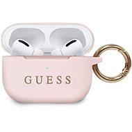 Guess szilikon tok Airpods Pro-hoz világos rózsaszín - Fülhallgató tok