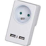 WowME elosztó - 1 kimenet 16A / 3680W + 2 x USB - Töltő