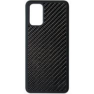 Hishell Premium Carbon tok Samsung Galaxy S20+ készülékhez - fekete - Telefon hátlap
